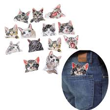 <b>cute Cat</b> Patches High Quality Lifelike 3D <b>Embroidery</b> Patch For ...