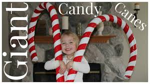 How to Make Giant Candy Cane Decorations - YouTube