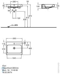 *<b>Раковина KERAMAG iCon</b> (600х485х155) отверстие под ...