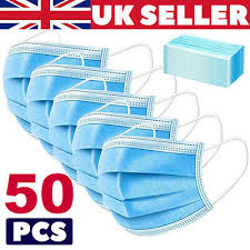1/<b>10/50/100</b>/200 3PLY DISPOSABLE <b>Medical</b> Surgical Dental Face ...