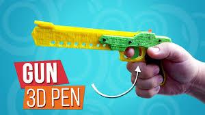 Как сделать <b>пистолет</b> стреляющий резинками | Игрушки <b>3D ручкой</b>