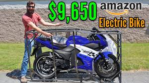 I BOUGHT the most Expensive <b>ELECTRIC motorcycle on</b> Amazon ...