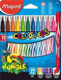 Купить <b>Фломастеры Maped Color</b>'<b>peps</b>, 12 цветов с доставкой по ...