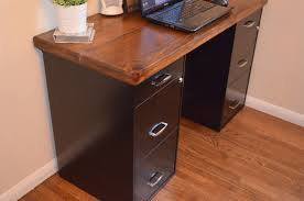 using file cabinets for desk bathroomcute diy office homemade desk