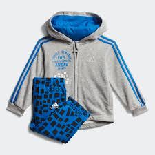 adidas Комплект: <b>толстовка</b> и брюки Graphic <b>Hooded</b> - <b>серый</b> ...