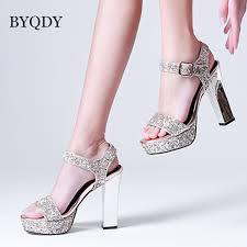 <b>BYQDY New 2020</b> Sequined Cloth Platform Summer Sandals ...