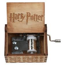 Vintage Handmade Engraved <b>Wooden Harry Potter Music</b> Box ...