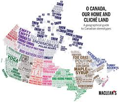 putting on the map map of canadian clicheacutes