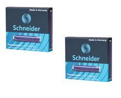 <b>Картриджи</b> чернильные SCHNEIDER, 2 коробки по 6 шт, синие