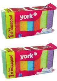 <b>Губки кухонные YORK</b> 7 шт. Color Raduga (<b>Набор</b> из 2 шт ...