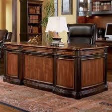 coaster home office executive desk in two tone warm brown finish brown finish home office