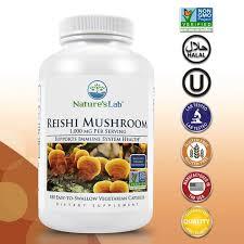 Nature's Lab Organic <b>Reishi Mushroom</b> 1000 <b>mg</b> - 180 capsules