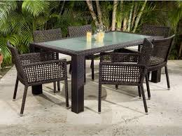 resin wicker dining chairs outstanding great sets piece white resin wicker patio dining set table
