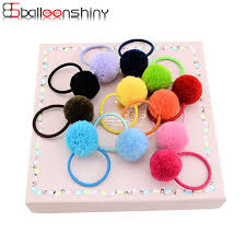 BalleenShiny <b>12Pcs</b>/<b>lot</b> Children Girls <b>Hair</b> Ball <b>Headrope Cute</b> ...