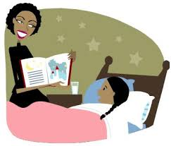 image of mother reading to child