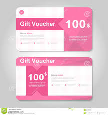 voucher gift certificate template gold pattern royalty cute pink and gold gift voucher template layout design set certificate discount coupon pattern for