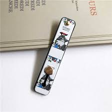 <b>Cute Cartoon</b> silicone wristband finger ring grip phone holder stand ...