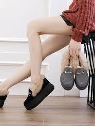 New <b>Korean Artificial Fur</b> Flip Cotton Shoes | UGGY BOOTS | Shoes ...