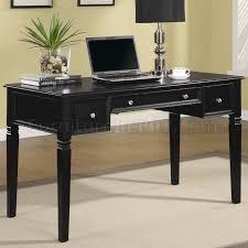 rich black finish modern home office desk wnickel hardware black desks for home office