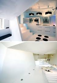 black white interior angled design black white interior design