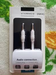 Аудио <b>кабель</b> 3,5мм jack - 3,5мм jack <b>Vivanco</b> 0.8<b>м</b>