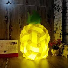 modern 40cm pineapple plant bedroom table light diy elements iq jigsaw puzzle ze lamp shade ceiling cheap diy lighting