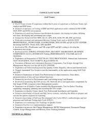 sap tester sample resume software testing scripting language