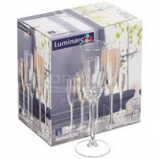 <b>Бокал</b> для шампанского <b>Luminarc</b> Signature H8161, 6 шт, 170 мл в ...