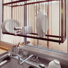 kitchen sink dish drying racks interesting drying rack  creative ideas to organize dish and plate sto
