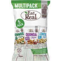 <b>Чипсы Eat Real</b> Мульти из нута смет и лук и из чечевицы с морск ...