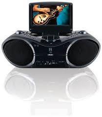 gpx btb portable dvd cd boombox inch screen product gpx bt780b portable 7 inch dvd cd player am fm radio boombox black