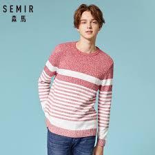 SEMIR Autumn Sweater <b>Men 100</b>% <b>Cotton</b> Gray Color <b>Knitted</b> Brand ...