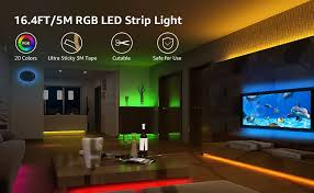 LE RGB LED Strip Lights Kit, 16.4ft 12V Flexible LED ... - Amazon.com