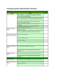 complete system administrator checklist computer file backup