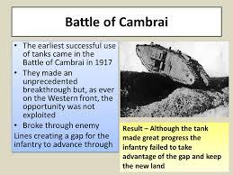 「Battle of Cambrai, machine gun vs tanks 1917」の画像検索結果