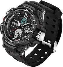 Mens Analog Digital LED 50M Waterproof <b>Outdoor Sport Watch</b>