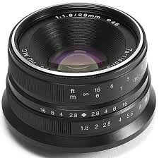 <b>Объектив 7Artisans</b> 25mm F1.8 <b>Micro 4/3</b> черный купить в ...