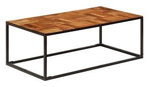<b>Coffee Table 110x40x60</b> cm Solid Acacia Wood and Steel -