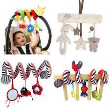 <b>Baby</b> Plush Rattles <b>Cartoon</b> Bear <b>Cow</b> Animal Mobiles Toys <b>Infant</b> ...