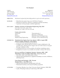 lean manufacturing my resume engineering send