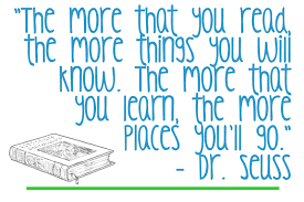 Image result for dr seuss quote about reading