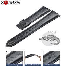 Aliexpress.com : Buy <b>ZLIMSN</b> Black <b>Crocodile Leather Strap</b> ...