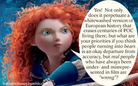 tangled disney Rapunzel brave feminism princesses hypocrisy merida ... via Relatably.com