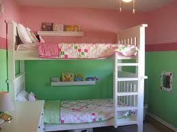 seductive kids bedroom shared room ideas with white bunk bed along ladder also cozy bed sheet childrens room lighting