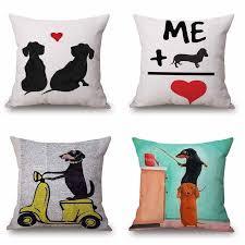Home Décor Pillows Sketch Dachshund <b>Dog</b> Pillow Case <b>Funny</b> ...