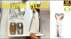 Unboxing and review of the <b>Beurer HL 70</b> 3 in1 epilator shaver ...