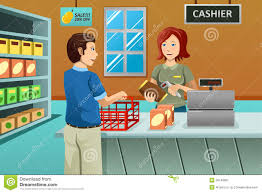 supermarket worker clipart clipartfest cashier working in the grocery