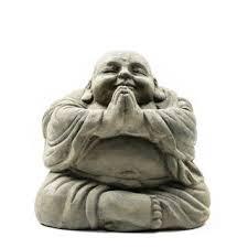Shop Handmade <b>Happy Buddha</b> Praying <b>Antique Statue</b> (Indonesia ...