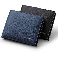 <b>WilliamPOLO</b> luxury Brand Wallets Men <b>100</b>% <b>Cowhide</b> Short Bifold ...