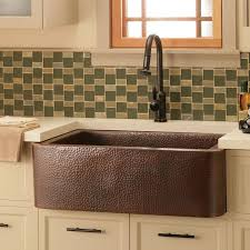 hammered copper kitchen sink: farmhouse  copper apron sink middot hammered kitchencopper